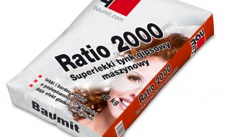 Baumit Ratio 2000 – superlekki tynk gipsowy