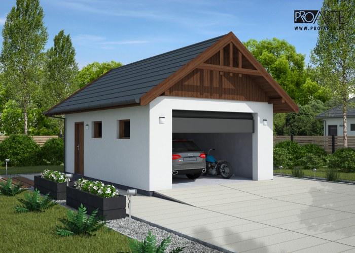 G339A projekt garażu na zgłoszenie do 35m2